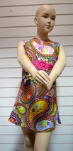 "Girls 60's / 70's Costume - ""Paisley Print Dress "" -  , ages 8 -10 - $20.66"