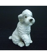 Vintage Poodle Puppy Dog Figurine Japanese Japan White - $8.95