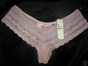 Felina Nude Lace Panache tanga panty 73828 NEW L