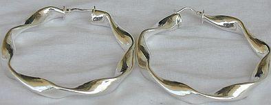 hoop F silver earrings