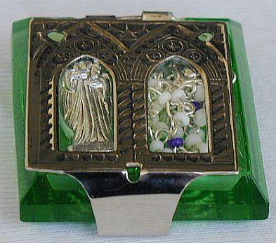Olive green rmini rosary box