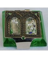 Olive green mini Rosary box - $20.00