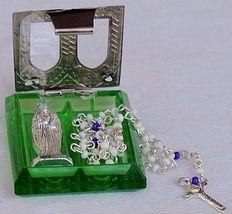 Olive green rmini rosary box 1 thumb200