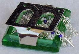 Olive green rmini rosary box 2 thumb200