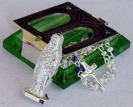 Olive green rmini rosary box 3 thumb200