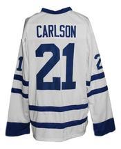 Custom Name # Johnstown Jets Retro Hockey Jersey New White Carlson #21 Any Size image 4