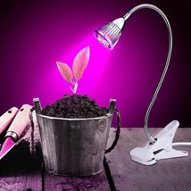 5W LED Plant Grow Light With Clamp Flexible Neck For Indoor Garden Green... - $14.34