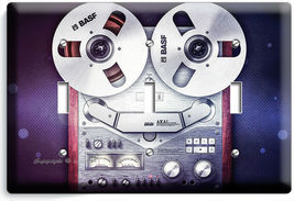 VINTAGE REEL TO REEL RECORDER PLAYER LIGHTSWITCH OUTLET PLATE MUSIC STUDIO DECOR image 10