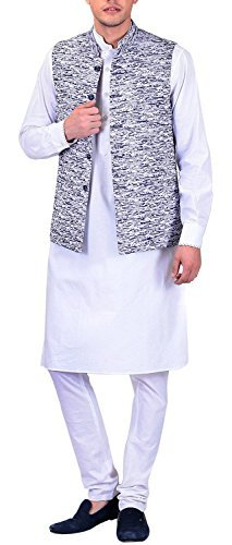 Primary image for Tag 7 Men's Cotton Regular Fit Kurta Pyjama Set 40 White
