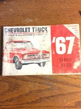 1967 Chevrolet Truck Owners Manual Care & Operation C/K Series 10-30 Pic... - $24.74