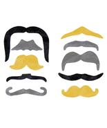100 Fake Mustaches Birthday Party Favors Bulk Lot  Moustache Mustache Wh... - $18.97