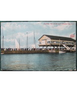 Antique, Souvenir Post Card Co, full bleed, Yachting Pier at - $8.00