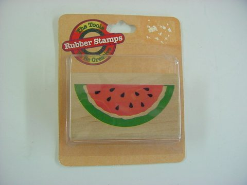 Rubber Stampede Watermelon Wood Mounted Rubber Stamp - MIP -  No. Z198E