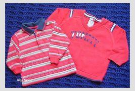 Tommy Hilfiger Boy 2 Pc Lot LS Tee / Sweater 6 M 12 M - $17.00
