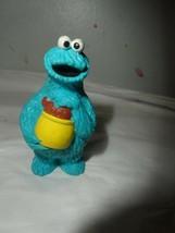 Cookie Monster Holding Jar Sesame Vtg 80's Sesame Street Muppet PVC Figure  - $1.98