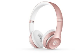 Beats by Dr. Dre solo 2 wireless headphones Rose gold MLLG 2AM/A - £184.59 GBP