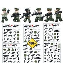 WW2 Land Military Soldier With 300 Weapon Vest Knife Etc Fit Lego Block,... - $12.99