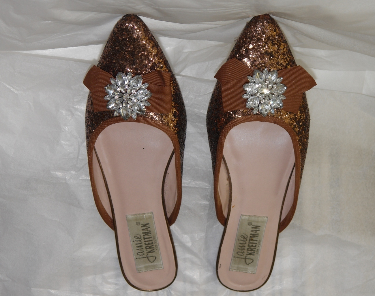 ef84296bc8bd60 Jamie Kreitman New York Ladies Crystal Rhinestone Shoes Sz 8