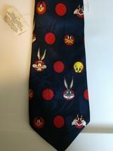 Looney Tunes Mania 1993 Tie Bugs Bunny Daffy Duck Tweetie Bird Sylvester... - $12.64