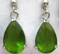 fashion charming lady's faced green zircon dangle earring free shipping - $10.99