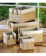 5 Large Nesting Baskets - £43.01 GBP