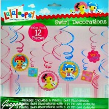 Lalaloopsy Dangling Swirl Decorations 12 Piece Birthday Party Supplies F... - $7.69
