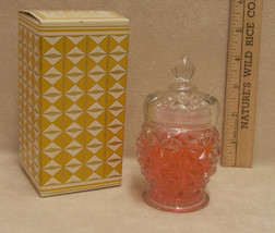 Avon 1973 Crystal Facets Roses, Roses Cologne Gelee with Box - $13.85