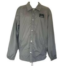 quiksilver mens snap button windbreaker Long Sleeve Skate Surf Jacket Si... - $19.79