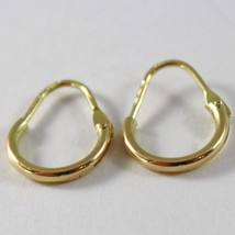 18K YELLOW GOLD ROUND CIRCLE EARRINGS DIAMETER 8 MM WIDTH 1.7 MM, MADE IN ITALY image 2