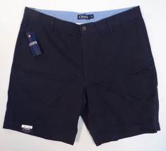 Chaps Men's Navy Blue Flat Front Casual Shorts 889697137974 - $37.49