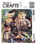 McCALL'S 5125 UNCUT SEWING PATTERN BEAR DOLLS & CLOTHES - $5.00