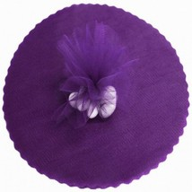 "50 Scalloped Tulle Circles 9"" Wedding Favor Wrap - Purple - $4.46"