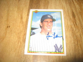 Autographed baseball card Yankees Tim Leary - $4.00