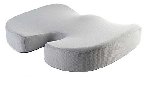 PANDA SUPERSTORE Gray Car Seat Cushions Comfort Foam Seat Cushion Memory Foam Cu