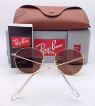 RAY-BAN Sunglasses ROUND METAL RB 3447-N 001/Z2 47-21 Gold w/Copper Flash Mirror