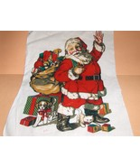 Applique Santa with Big Bag of Toys 11 x 16 - $4.00