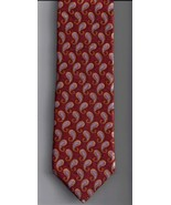 Ike Behar Tie Mens Necktie Silk Orange silver P... - $24.99
