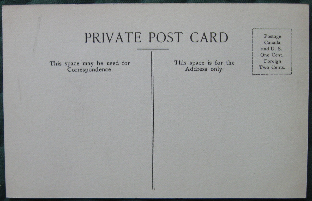 Antique, Private Post Card, Early divided back postcard view