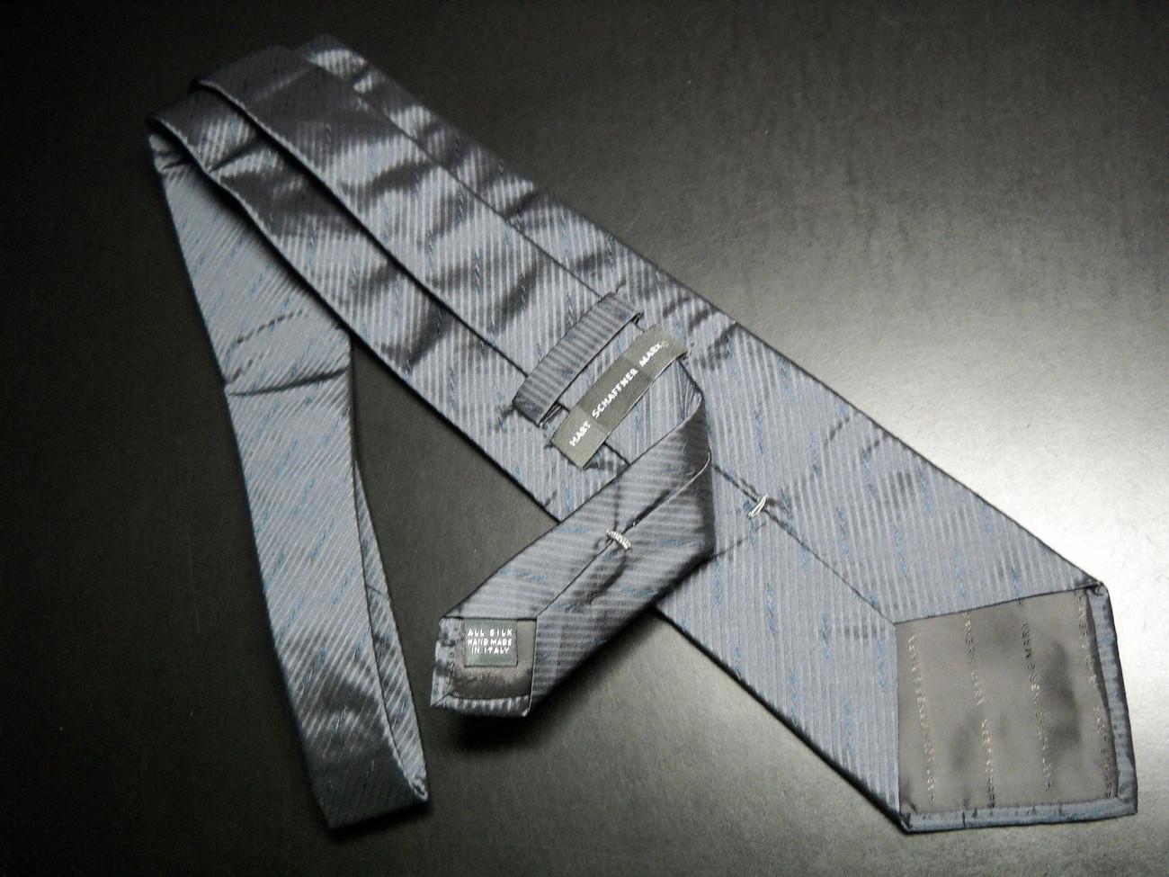 Hart Schaffner Marx Neck Tie Silk Handmade in Italy Grays