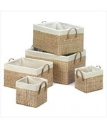 Large Nesting Baskets set of 5 - $1.694,75 MXN