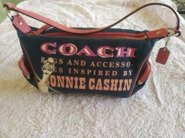 Coach Bonnie Cashin Pink Blue Small Handbag With Kisslock - $55.00