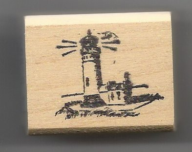 Primary image for Small Lighthouse Rubber Stamp made in america free shipping