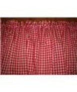 New Window Curtain Valance made from Red and White Gingham F - $12.99