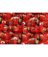 New Window Curtain Valance Made From RED CARS Fabric - $12.99