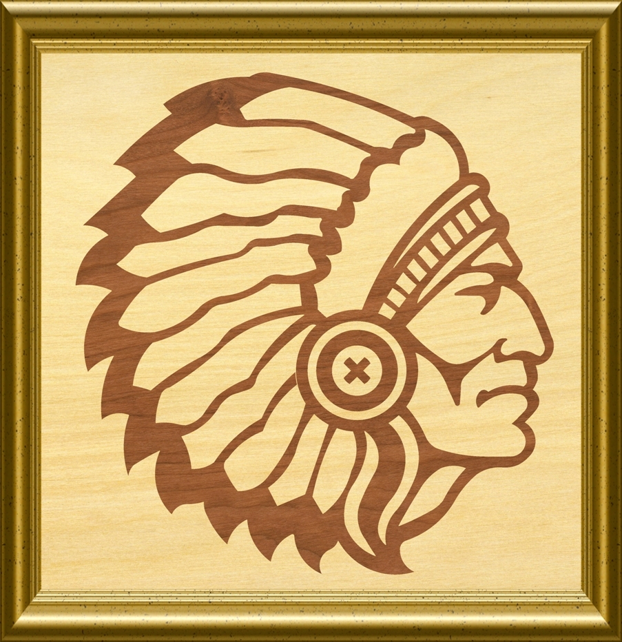 Indian Chief Scroll Saw Woodworking pattern by OTB Patterns