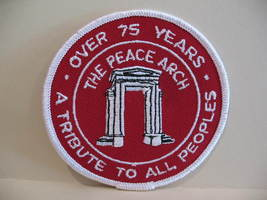 Peace Arch Girl Guides Patch Crest Badge Souvenir Scouts A Tribute To Al... - $4.99