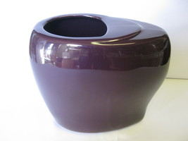 """Royal Haeger Art Pottery 8 7/8"""" Purple Vase Oblong Made in USA New from ... - $44.99"""
