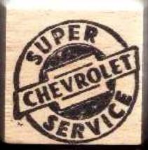 Super Chevy service logo Rubber stamp - $9.95