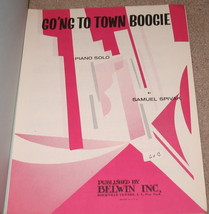Go'ng To Town Boogie Sheet Music - 1965 - Piano Solo - $9.95