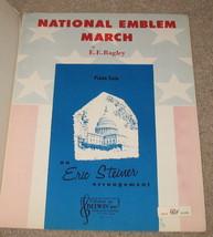 National Emblem March Sheet Music - E Bagley - 1963    - $9.95